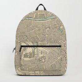 Vintage Map of Dublin Ireland (1901) Backpack