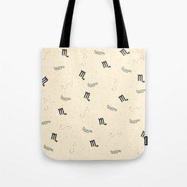Scorpio Pattern - Beige Tote Bag