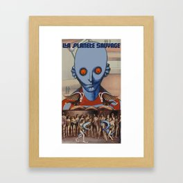 Le Planete Sauvage (Fantastic Planet) Reimagined  Framed Art Print
