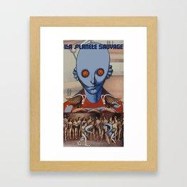 Le Planete Sauvage (Fantastic Planet) Reimagined  Framed Art Print