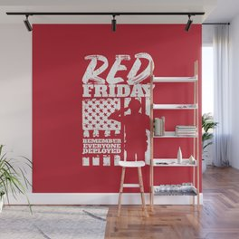 Red Friday American Military Soldier Wall Mural