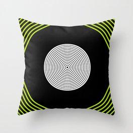Colour Pop Circles - Lime Green Throw Pillow