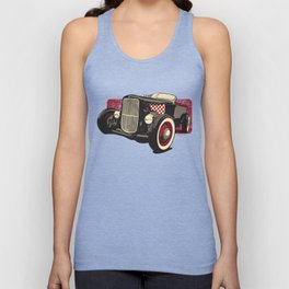 Old School Rat Rod Car Unisex Tank Top
