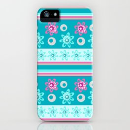Happy Place Stripe in Blue iPhone Case