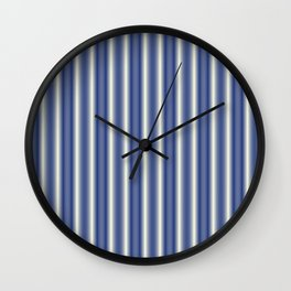 Blue and Cream Stripes Wall Clock