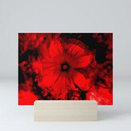 dark red blossom Mini Art Print