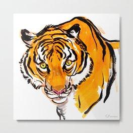 Malayan Tiger Metal Print