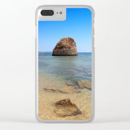 tower in the sea salento italy Clear iPhone Case
