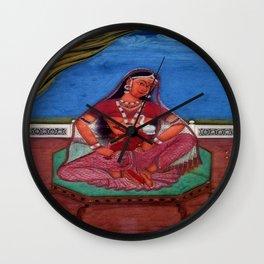 Deity Parvati With Her Son Ganesha Wall Clock
