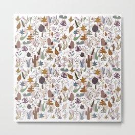 Brown Nature Mix Metal Print