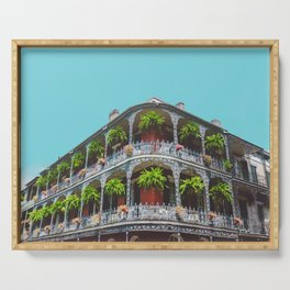 Hanging Baskets of Royal Street, New Orleans Serving Tray