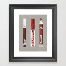 Markers: Pantone + Edding (1st edition) Framed Art Print
