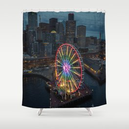 The Great Wheel Shower Curtain