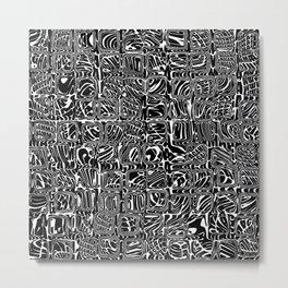 Abstract MAGA Typography Metal Print