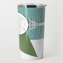 Green Raygun 02 Travel Mug