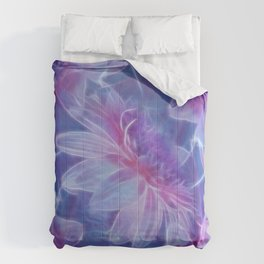 Abstract Dahlia fractal Comforters