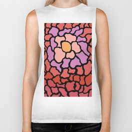 abstract shades of red and pink Biker Tank