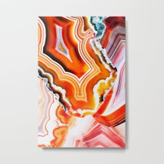 The Vivid Imagination of Nature, Layers of Agate Metal Print