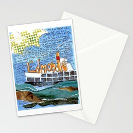 EDMONDS, WASHINGTON the town and the adventures by Seattle Artist Mary Klump Stationery Cards