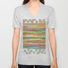 stripes & striped Unisex V-Neck