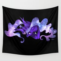 mlp Wall Tapestries featuring Ethereal Night- Princess Luna by Red Red Telephone