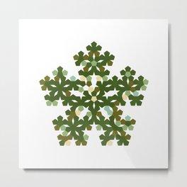 #412 Pentabloom – Geometry Daily Metal Print