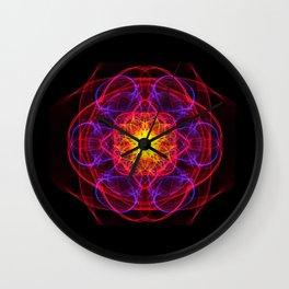 Silkweave / Neon Sigil 1 Wall Clock
