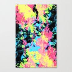 Blacklight Neon Swirl Canvas Print