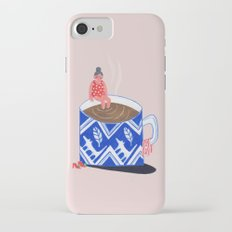 Morning Coffee swim iPhone 7 Slim Case