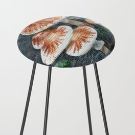 Family of mushrooms by Teresa Thompson Counter Stool