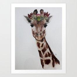 King of Giraffes Art Print