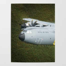 Airbus A400M At Mach Loop Bwlch Poster