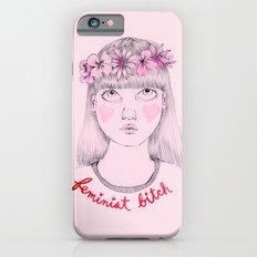 Floral Feminist Bitch Slim Case iPhone 6
