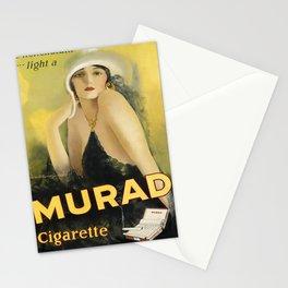 retro be nonchalant . . . light a murad cigarette Stationery Cards