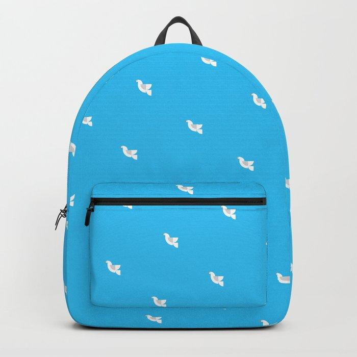 Geometric Dove Backpack