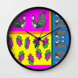 Peacock Feather Art Wall Clock