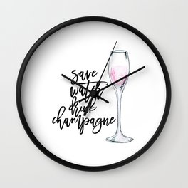 Champagne sign.Champagne Decor,Champagne Poster,Party Decor,But First Champagne,Alcohol Gift,Bar Wall Clock