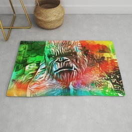 LOVE THE MONKEY Rug