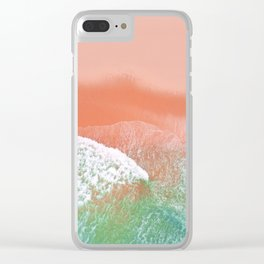 Pink Beach Clear iPhone Case