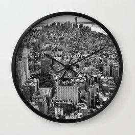 New York City black & white Wall Clock