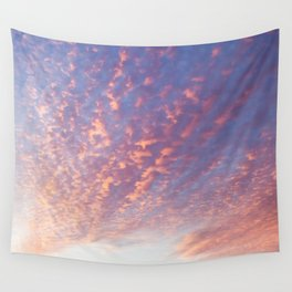 Sunset and Cotton Candy Wall Tapestry