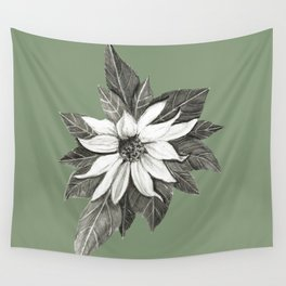 Florida Flower with Green Background Wall Tapestry