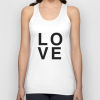 helvetica Tank Tops featuring LOVE helvetica by Rue du chat qui peche