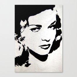 Lauren Bacall Stencil Canvas Print