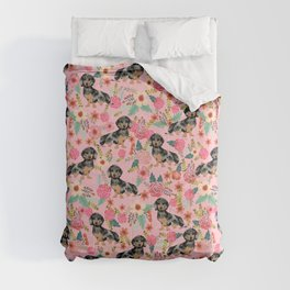 Dapple Dachshund doxie lover floral must have gifts dachsie flowers Comforters