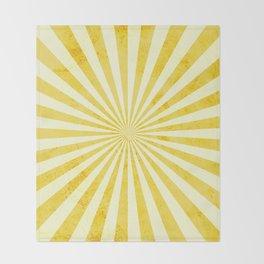 Retro Yellow Sunshine Throw Blanket
