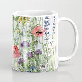 Watercolor of Garden Flower Medley Coffee Mug