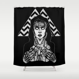 She's Filled with Secrets - Laura Palmer - Twin Peaks Shower Curtain