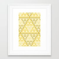 triforce Framed Art Prints featuring Triforce by Gavin Guidry
