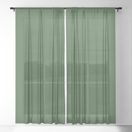 Kiss of Spring ~ Green Coordinating Solid Sheer Curtain